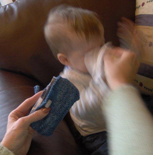 pocket tissue holder - knitting instructions